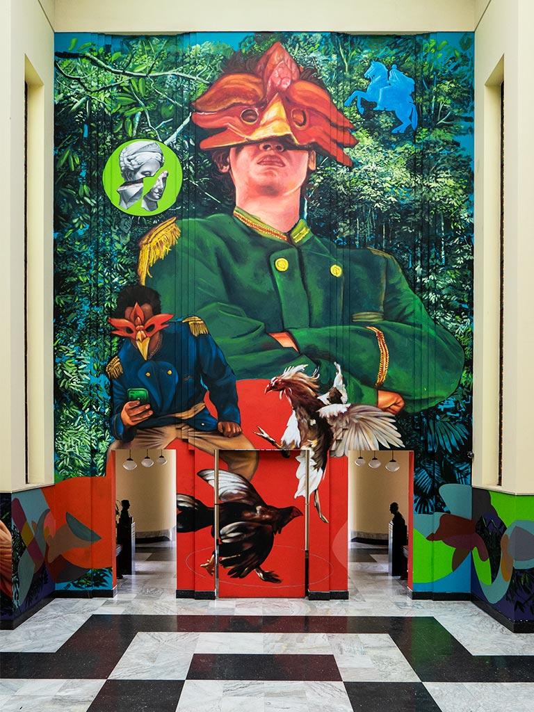 Mural at Biblioteca Nacional de Colombia